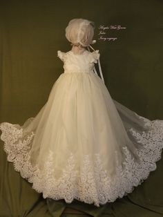 Julia Christening gown set by Angela West Handcrafted Heirloom