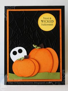 Halloween Pumpkins by kyann22 - Cards and Paper Crafts at Splitcoaststampers