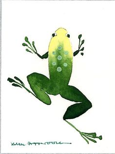 Frog, watercolor by Kim Attwooll