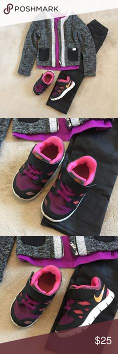 Nike Free runs 6 toddler Nike Free runs for a baby girl in excellent used condition Nike Shoes Sneakers