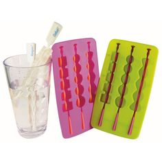 $8.45 Everything is more fun on a stick ICE KABOBS stir up some fun and add a cOoOol touch to your beverages. These extended ice cubes double as handy swizzle sticks.