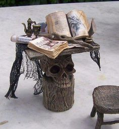 Awesome skull side table