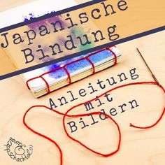 Japanese binding - Runas cardboard box bookbindingHere you get a beginner-ready DIY guide for a very simple Japanese binding to bind a notepad or a notebook. I will show you the Japan binding tutorial not Art Origami, Kids Origami, Baby Scrapbook, Scrapbook Cards, Arts And Crafts Box, Japanese Binding, Diy Papier, Origami Tutorial, Scrapbook Designs