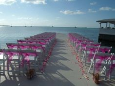 #Pink Beach Wedding ceremony... Wedding ideas for brides, grooms, parents & planners ... https://itunes.apple.com/us/app/the-gold-wedding-planner/id498112599?ls=1=8 … plus how to organise an entire wedding ♥ The Gold Wedding Planner iPhone App ♥