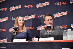 Executive Producer Melissa Bernstein and actor Jeffrey Donovan participate in Hulu's Shut Eye panel at New York Comic Con at Jacob Javits Center on October 6, 2017 in New York City.