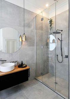 salle de bains carrelage gris idee