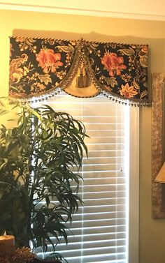 Designer valance with tassels and trimmings