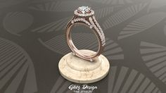 Gold Vintage Diamond Engagement Ring is a fancy detailed looking diamond ring with split shank and halo for the center diamond which is almost half a carat ct). Buy Diamond Ring, Diamond Jewelry, Vintage Engagement Rings, Diamond Engagement Rings, Real Gold Jewelry, Split Shank, Vintage Diamond, Jewelry Gifts, Halo