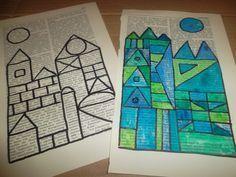 Bildergebnis für Paul Klee in der Grundschule Art Education Lessons, Art Lessons Elementary, School Art Projects, Art School, Chateau Moyen Age, Art Sub Plans, Paul Klee Art, 5th Grade Art, Ecole Art