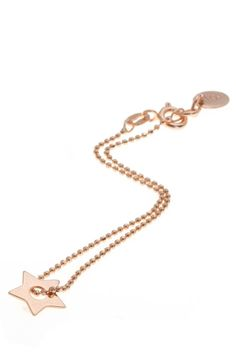 Cudna bransoletka z gwiazdką pozłacana różowym złotem!