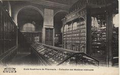 Réf. image : CISA1075 Ecole Supérieure de Pharmacie : collection des matières médicales Mots-clés : Pharmacie. Architecture . 20e siècle 1913 (circa) Cote : CISA1075 Imprimeur : A. Breger Frères, Paris Technique : Impr. photomécanique - Phototypie
