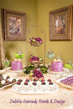 Purple and Green Christmas Dessert Table #christmas #desserttable