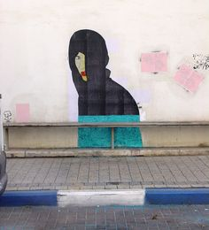 Medusa Boy street art by Yochai Matos
