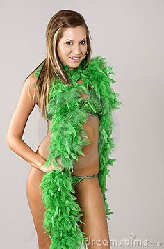 Sexy St Patty's Day | Beautiful St. Patrick day sexy swimsuit model.