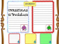 CHRISTMAS-  Writing paper- Clip Art- Personal or Commercial Use