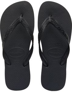 The Top comes in a rainbow of colors to match any ensemble. A tonal Havaianas logo on a matte strap and our signature textured footbed provide style and comfort. Thong style Cushioned footbed with textured rice pattern and rubber flip flop sole Made in Brazil