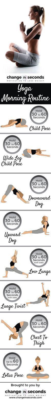 Yoga Morning Routine (Download PDF) http://www.changeinseconds.com/yoga-morning-routine/