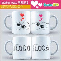 plantilla diseño marco tazas mug design amor love enamorados san valentin parejas iguales. loco y loca