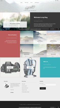 A true multipurpose WordPress theme Larix will provide your customers with a modern, elegant and fast website, without giving you the headaches involved with advanced coding. #travelblog #travelwebsite #wptemplate