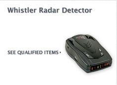 $10 Cash Rebate on Whistler Radar Detector...FREE CASH on Auto Parts
