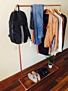 Tuyaux de cuivre vêtements rack étendoir rail par INDUSTRIdesign
