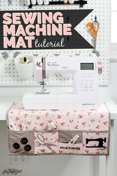 Make a DIY Sewing Machine Mat to organize your essentials! Made with the Cricut Maker Make a DIY Sewing Machine Mat to organize your essentials! Made with the Cricut Maker Sewing Hacks, Sewing Tutorials, Sewing Crafts, Sewing Tips, Sewing Essentials, Quilting Tutorials, Sewing Desk, Love Sewing, Fabric Sewing