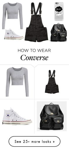 """Untitled #552"" by tyradecember95 on Polyvore featuring Abercrombie & Fitch, Converse, Coach, Casetify, women's clothing, women's fashion, women, female, woman and misses"