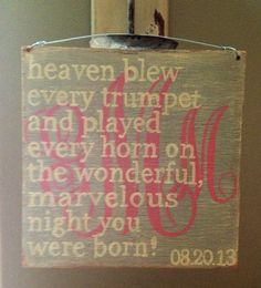 On The Night You Were Born....