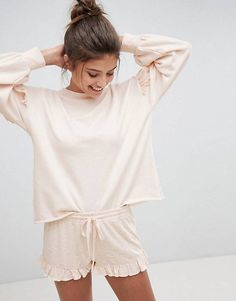 Order Hunkemoller Simplicity Lounge Pyjama Set online today at ASOS for fast delivery, multiple payment options and hassle-free returns (Ts&Cs apply). Get the latest trends with ASOS. Baby Doll Pajamas, Cute Pajamas, Comfy Pajamas, Pajamas For Teens, Pajamas Women, Satin Pyjama Set, Pajama Set, Asos, Sleepwear Women