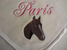 Custom Personalized Horse Baby Blanket by RiginalsByRuth on Etsy