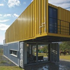 Huiini Shipping Container House in Mexico is a private residence situated in a quiet district of the city La Primavera, Zapopan, Jalisco, Mexico, in the...
