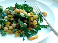 Meatless Monday: Warm Chickpea Salad with Rosemary, Lemon and Greens - Green Lemonade | Green Lemonade