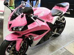 never ridden a motorcycle. it'd be cool if i could ride a pink one...but that probably won't happen...