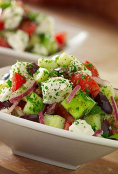 Greek Salad- Feta Cheese, Tomato, Cucumber, Kalamata Olives, Red Onions & Vinaigrette