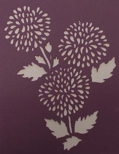 Pom Pom Flower Stencil by kraftkutz on Etsy