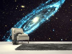 Spiral Galaxy wall mural room setting