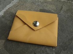 Leather accessory pouch - business card size