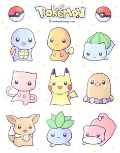 Pokemon stickers! > O < I'll have keychains and stickers in the store in a…