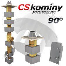 CS komín Universal jednoprůduch Premium průměr 180 mm kouřovod 90°