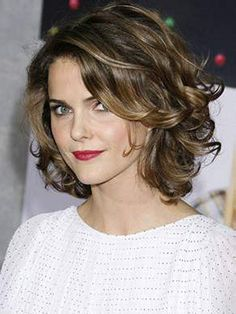 Womens Short Hairstyles for Wavy Hair Love this cut and style @Kori Tramel I like this cut!