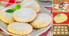 Chrumkavé mliečne sušienky, s ktorými sa vrátite do čias svojho detstva. Sweet Recipes, Cake Recipes, Cooking Cookies, Biscuit Recipe, Scones, Christmas Cookies, Biscuits, Food And Drink, Yummy Food