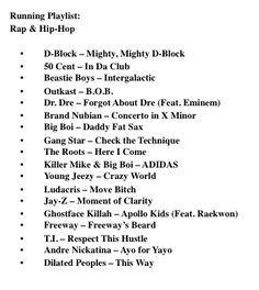 rap & hip hop running playlist