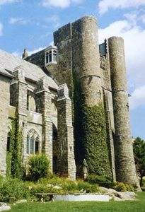Hammond Castle, Massachusetts: It is believed Hammond and his wife haunt the building. Their spirits have often been seen throughout Hammond Castle. Items disappear, reappear and move on their own. Voices are heard in the circular library as well as other rooms. A ghostly red-haired woman and other spirits appears among guests during weddings and disappears whenever anyone gets too close to them. A shadow figure is seen on the balcony above the organ.