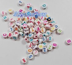100 letras a-z acrílicas 7x7mm