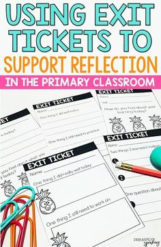 Exit tickets are a great way to encourage students to reflect on their learning. This post outlines the benefits of using exit tickets for reflection, as well as other useful tips, and these super cute (free) exit tickets.