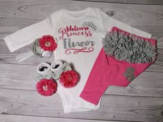 baby girl coming home outfit baby girl newborn by SweetnSparkly