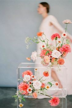 bright coral flower inspiration