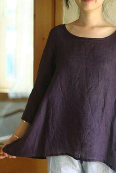 harmonics - linen pullover blouse