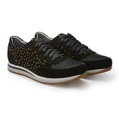 Rose Rankin Black Star Colt Runner Trainers: Rose Rankin Black Star Colt Runner Sneaker. Inspired by retro designs, these star scattered sneakers are ultimate casual piece. Wear with laidback pieces for everyday style.