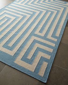 """Graphic Maze"" Rug at Horchow."